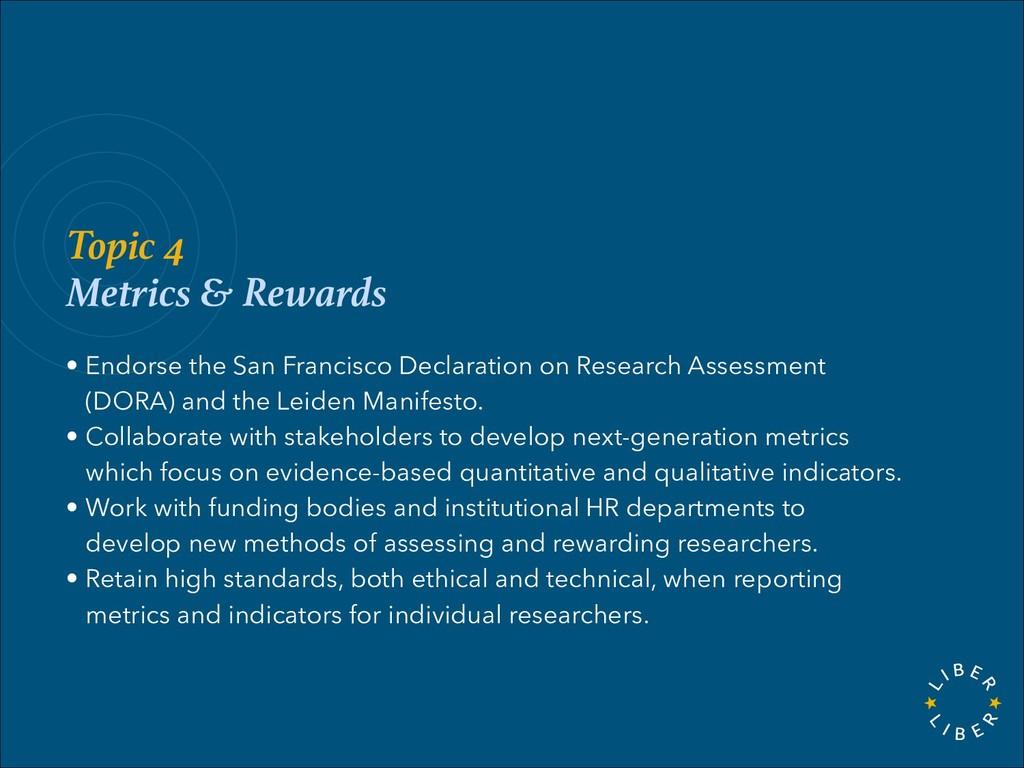 Topic 4 Metrics & Rewards • Endorse the San Fra...