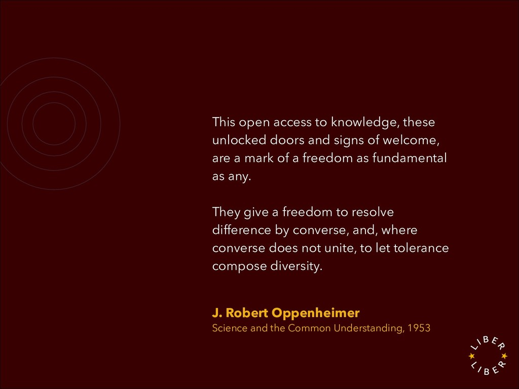 This open access to knowledge, these unlocked d...