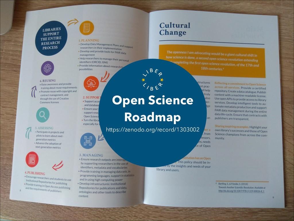 Open Science Roadmap https://zenodo.org/record/...