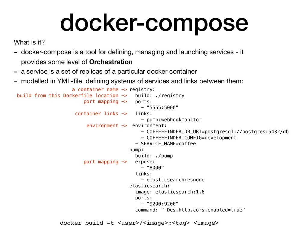 docker-compose What is it?  - docker-compose is...