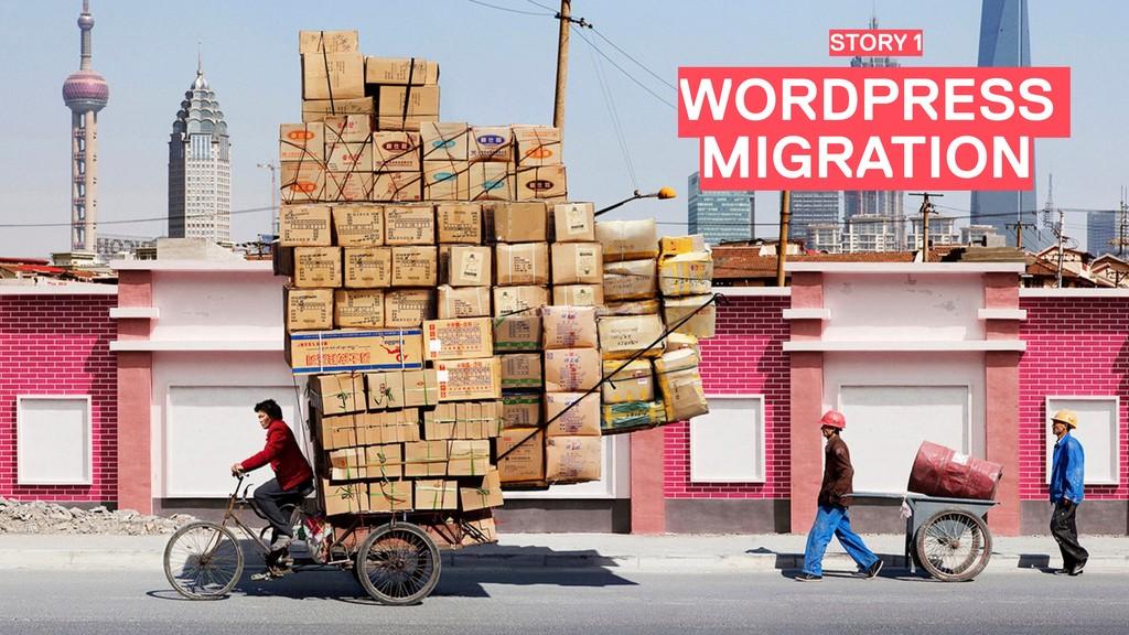 WORDPRESS MIGRATION STORY 1