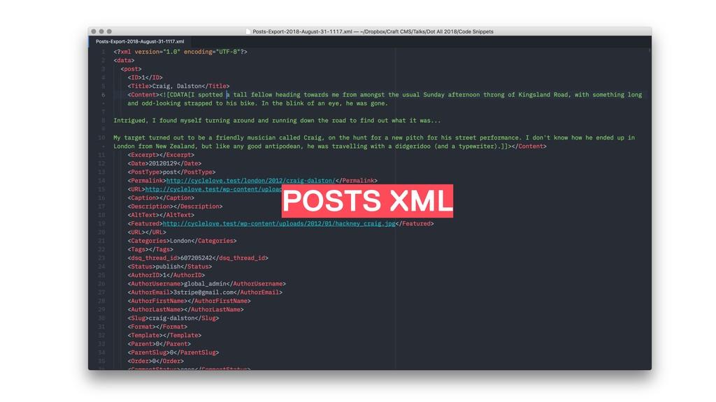 POSTS XML