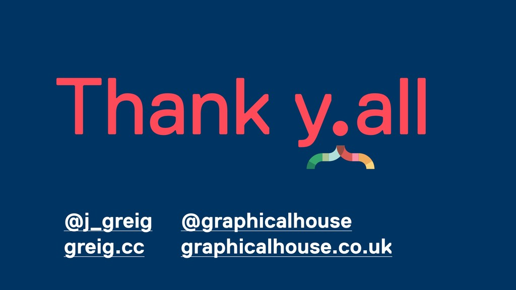 Thank y all @j_greig greig.cc @graphicalhouse g...