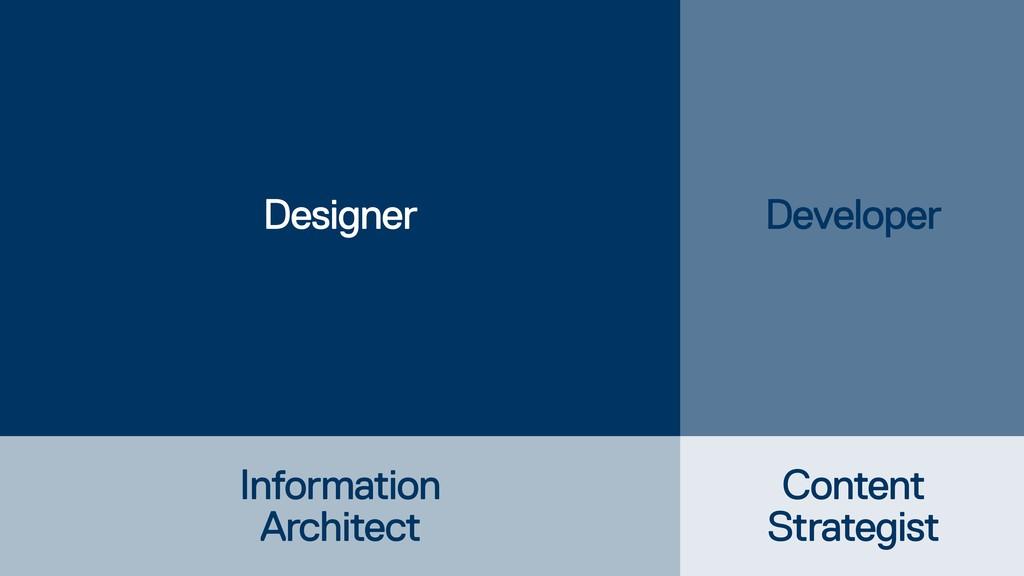 Designer Developer Content Strategist Informati...