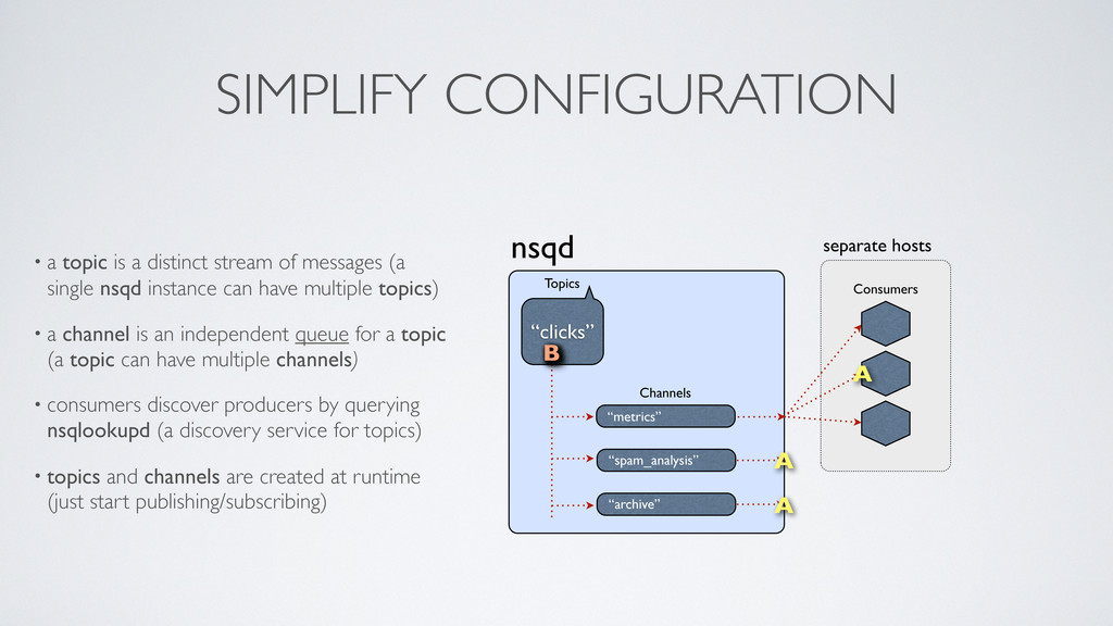 separate hosts SIMPLIFY CONFIGURATION • a topic...