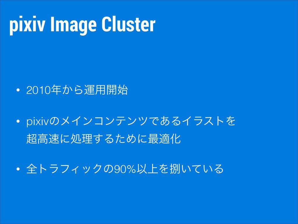 pixiv Image Cluster • 2010͔Βӡ༻։ • pixivͷϝΠϯίϯ...