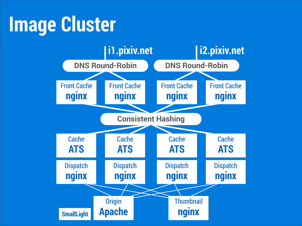 Image Cluster nginx Front Cache DNS Round-Robin...