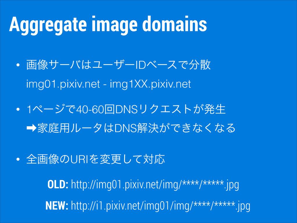 Aggregate image domains • ը૾αʔόϢʔβʔIDϕʔεͰ i...