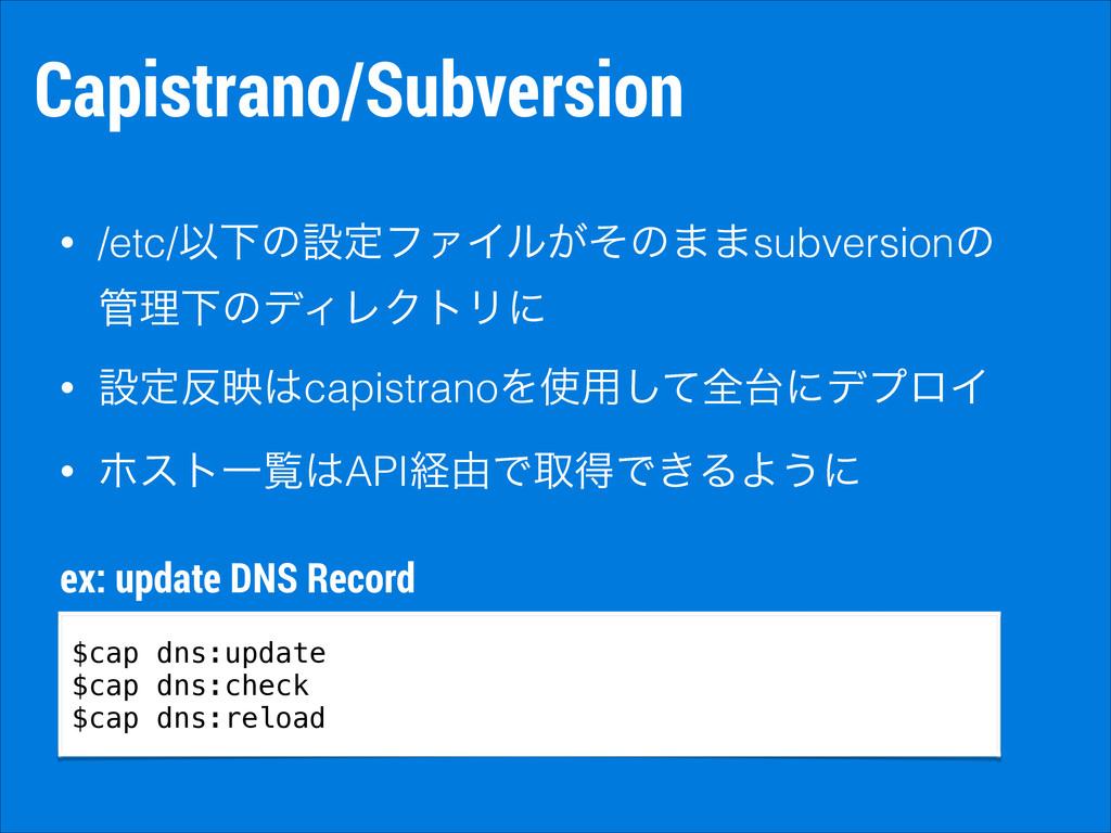 Capistrano/Subversion • /etc/ҎԼͷઃఆϑΝΠϧ͕ͦͷ··subv...
