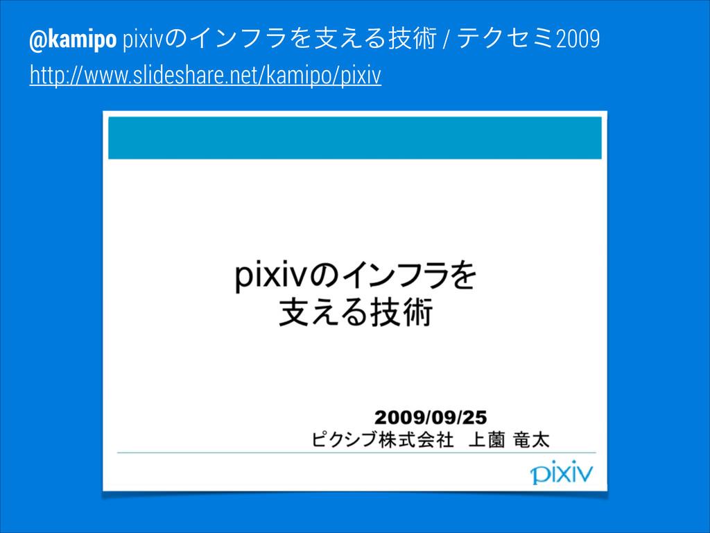 http://www.slideshare.net/kamipo/pixiv @kamipo ...