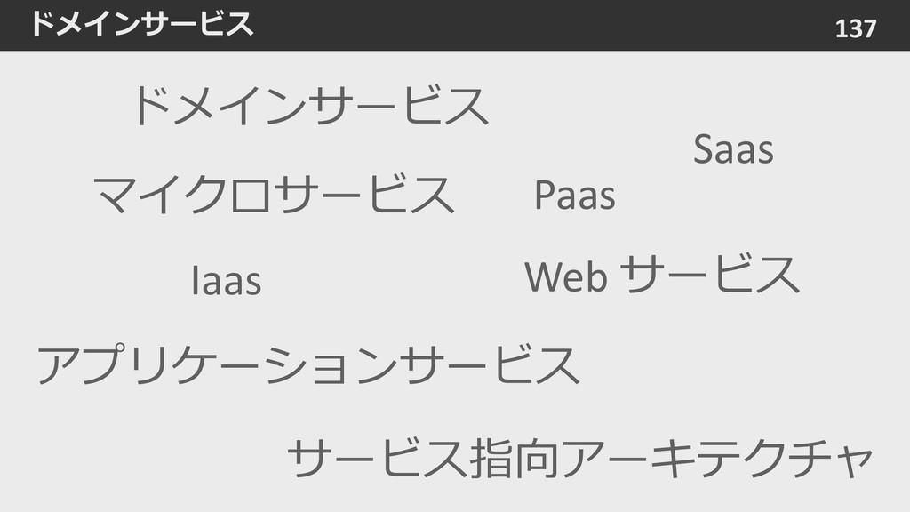 ドメインサービス 137 Web サービス サービス指向アーキテクチャ アプリケーションサービ...