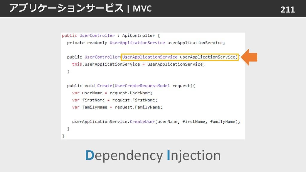 アプリケーションサービス   MVC 211 Dependency Injection