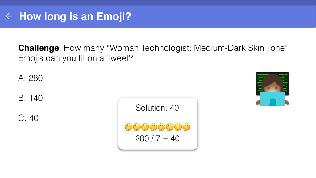 """How long is an Emoji? Challenge: How many """"Woma..."""