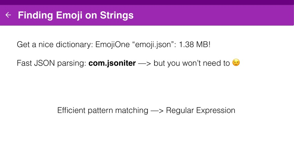 Finding Emoji on Strings Get a nice dictionary:...