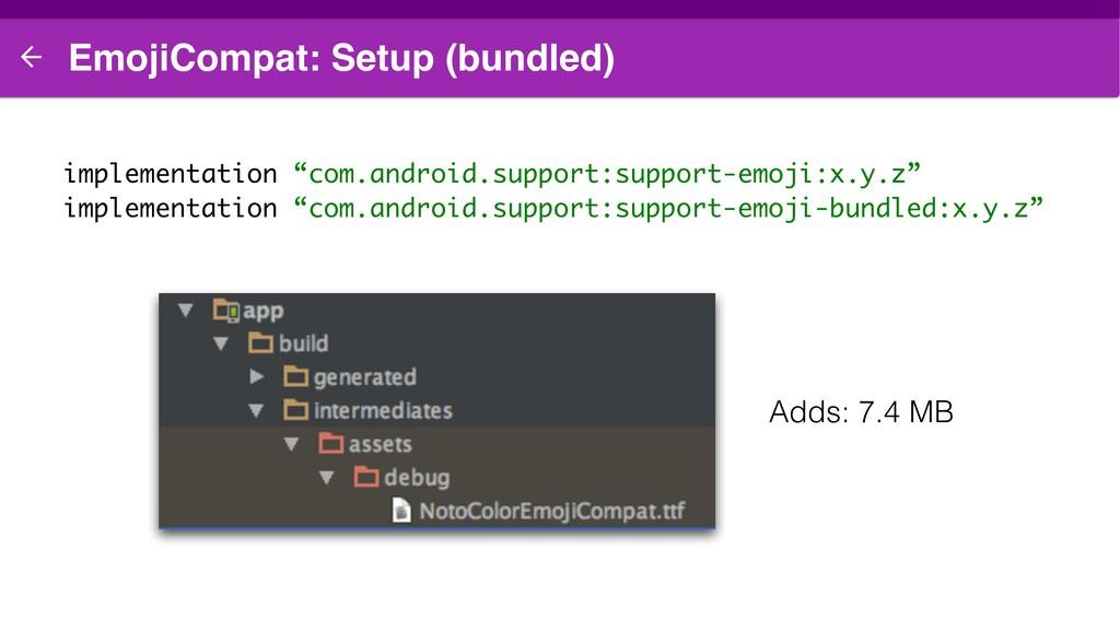 """EmojiCompat: Setup (bundled) implementation """"co..."""