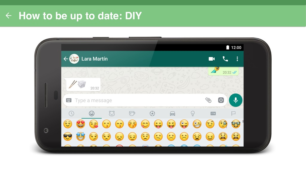 How to be up to date: DIY