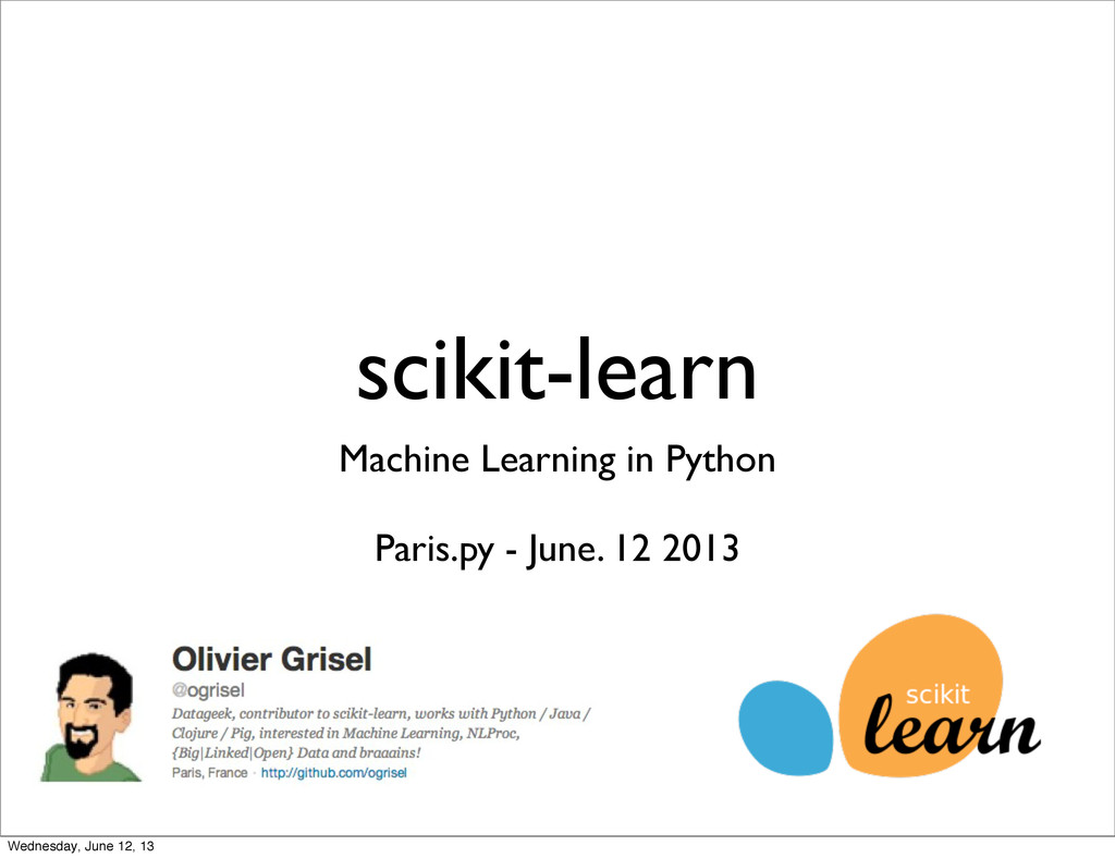 scikit-learn Machine Learning in Python Paris.p...
