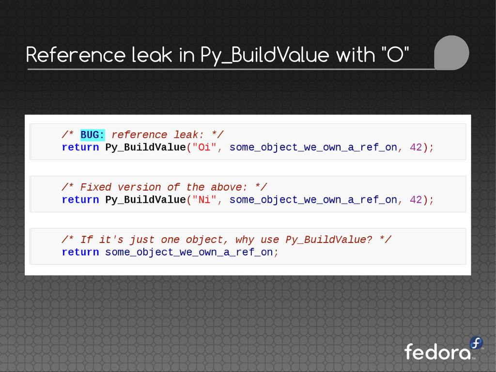 "Reference leak in Py_BuildValue with ""O"""