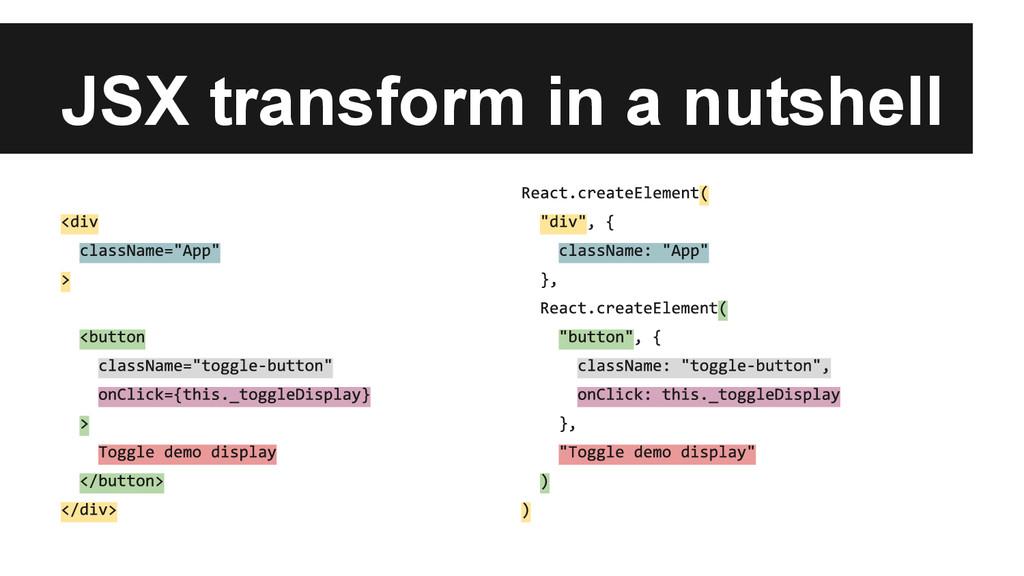 JSX transform in a nutshell