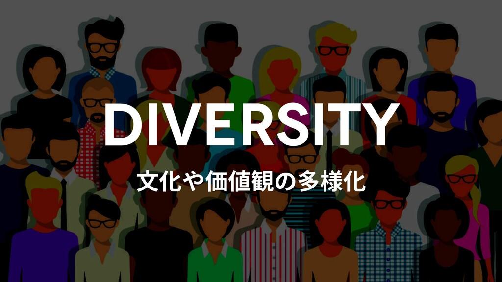 ⽂化や価値観の多様化 DIVERSITY