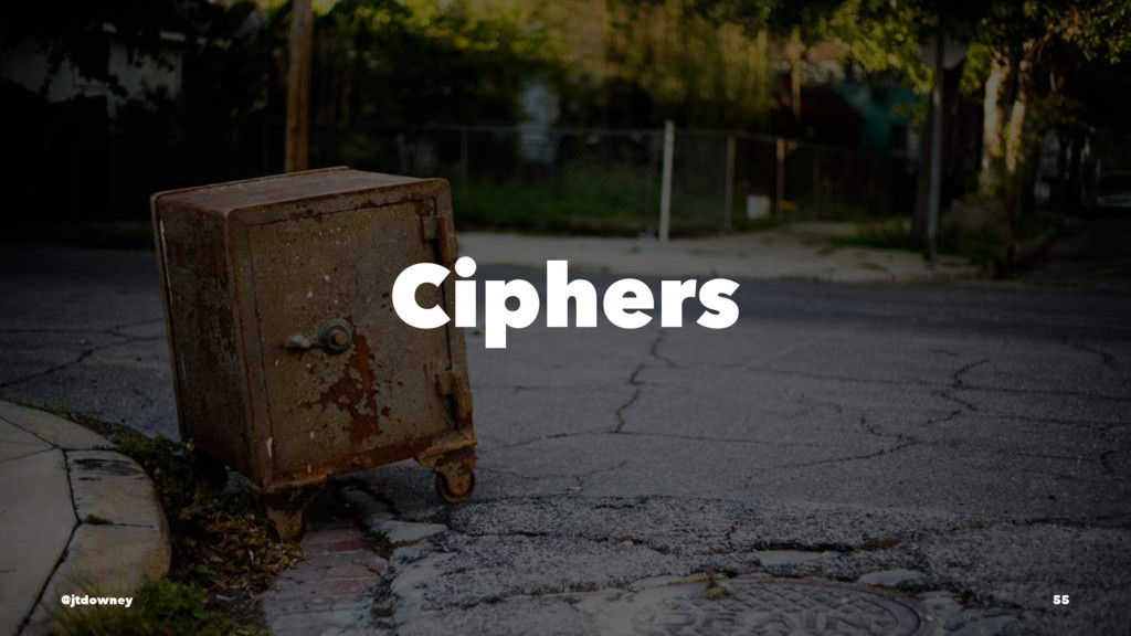 Ciphers @jtdowney 55