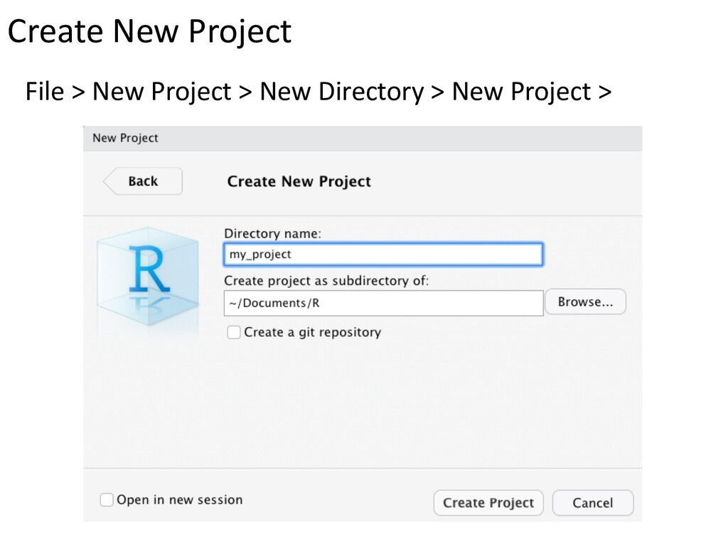 File > New Project > New Directory > New Projec...
