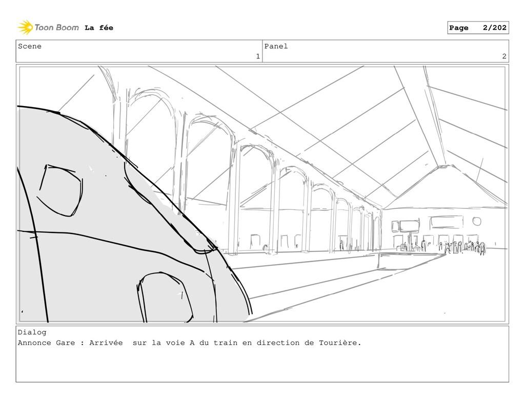 Scene 1 Panel 2 Dialog Annonce Gare : Arrivée s...