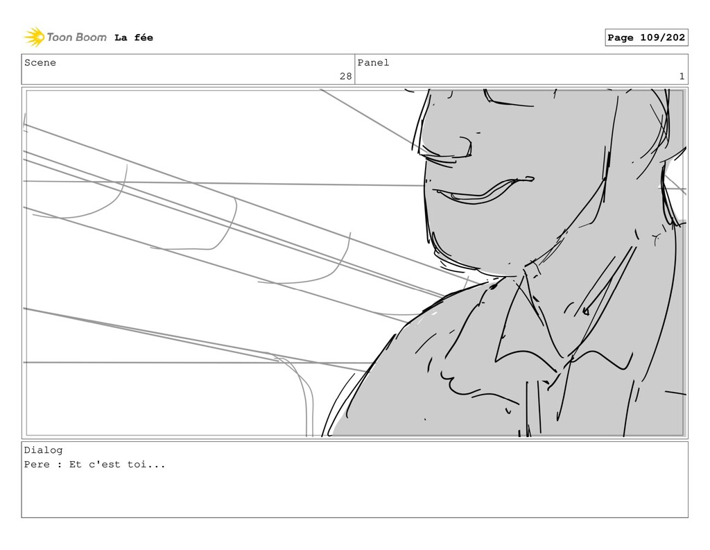Scene 28 Panel 1 Dialog Pere : Et c'est toi... ...