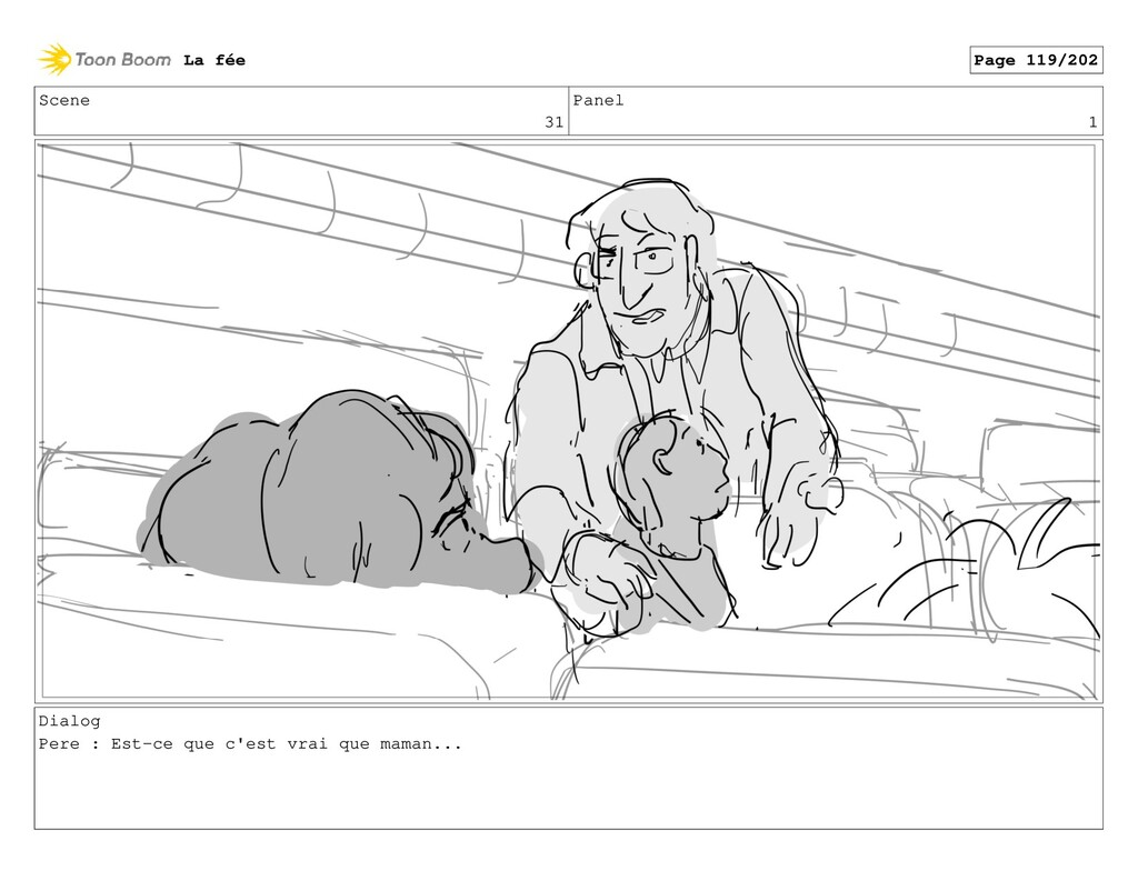 Scene 31 Panel 1 Dialog Pere : Est-ce que c'est...