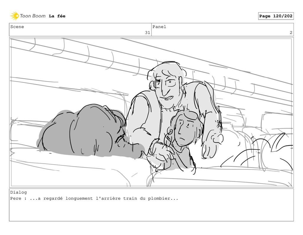 Scene 31 Panel 2 Dialog Pere : ...a regardé lon...