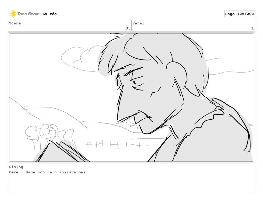 Scene 33 Panel 1 Dialog Pere : Haha bon je n'in...