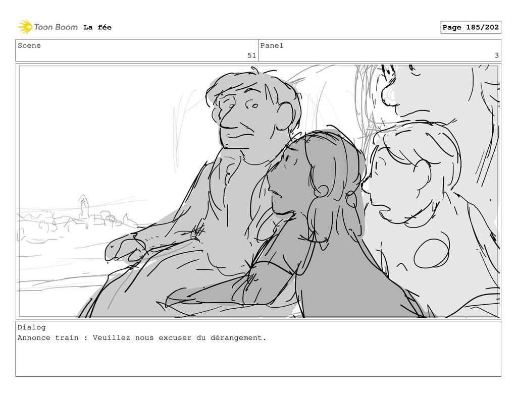 Scene 51 Panel 3 Dialog Annonce train : Veuille...