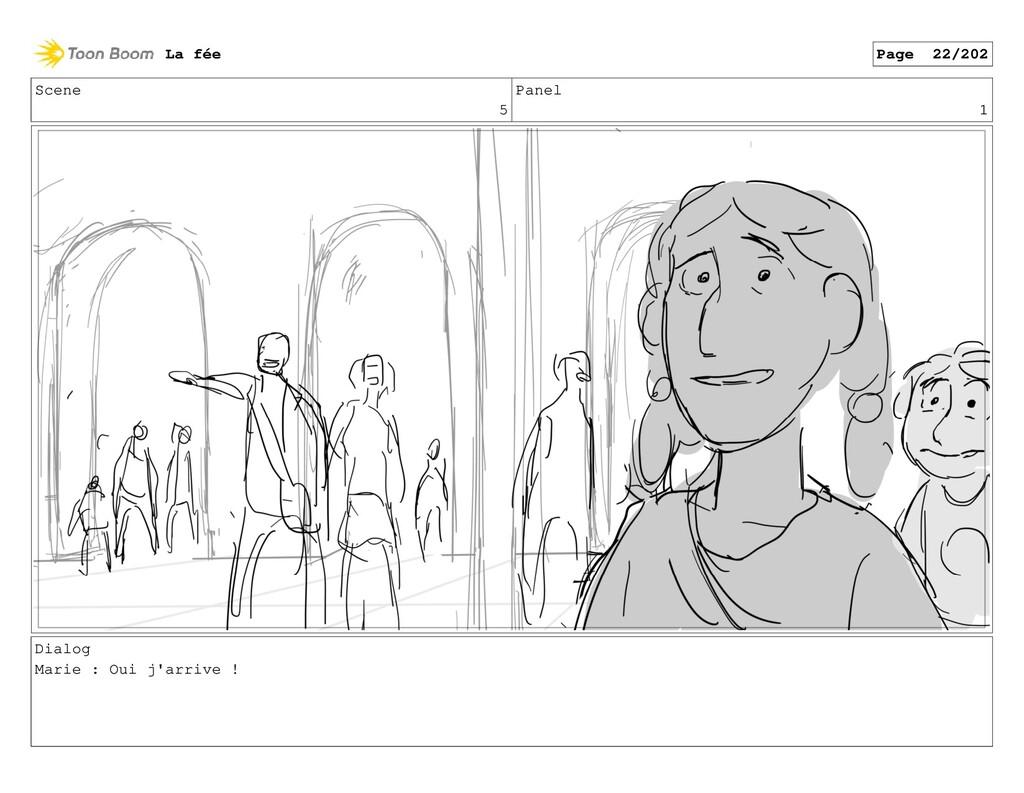 Scene 5 Panel 1 Dialog Marie : Oui j'arrive ! L...