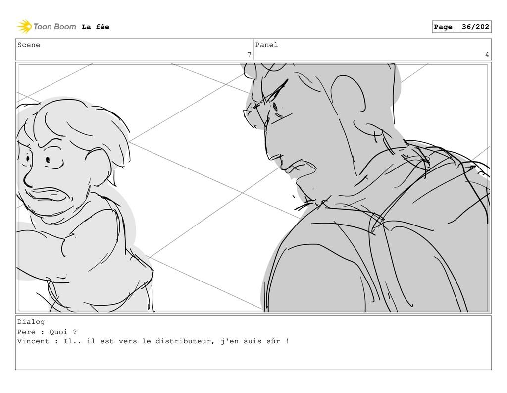 Scene 7 Panel 4 Dialog Pere : Quoi ? Vincent : ...
