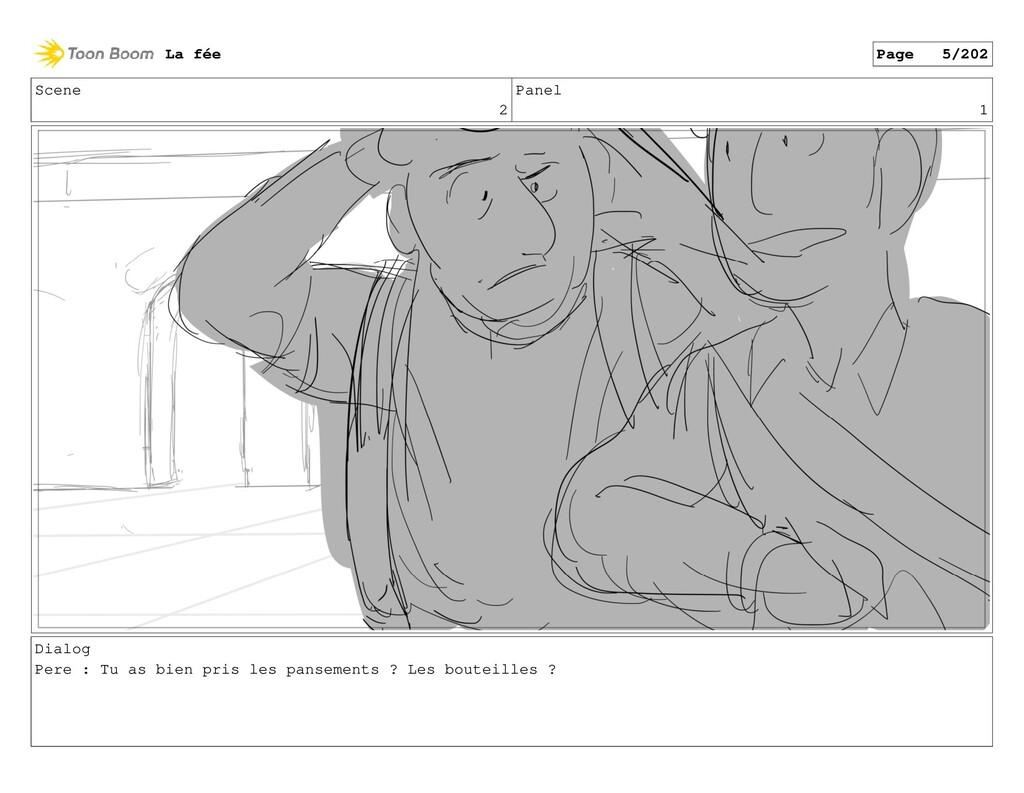 Scene 2 Panel 1 Dialog Pere : Tu as bien pris l...