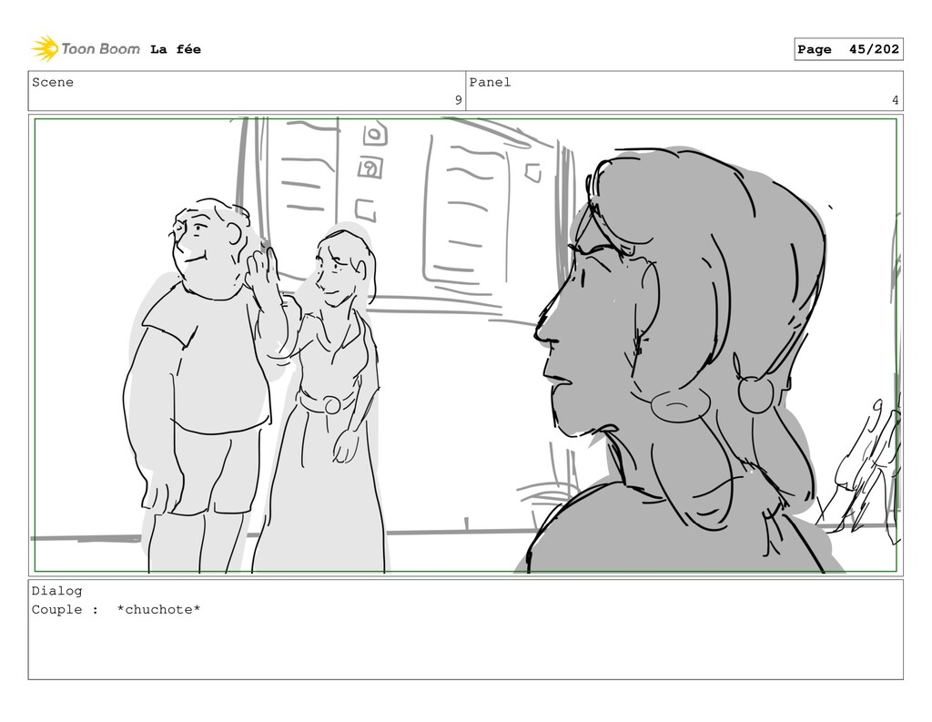 Scene 9 Panel 4 Dialog Couple : *chuchote* La f...