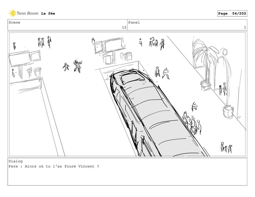 Scene 12 Panel 1 Dialog Pere : Alors où tu l'as...