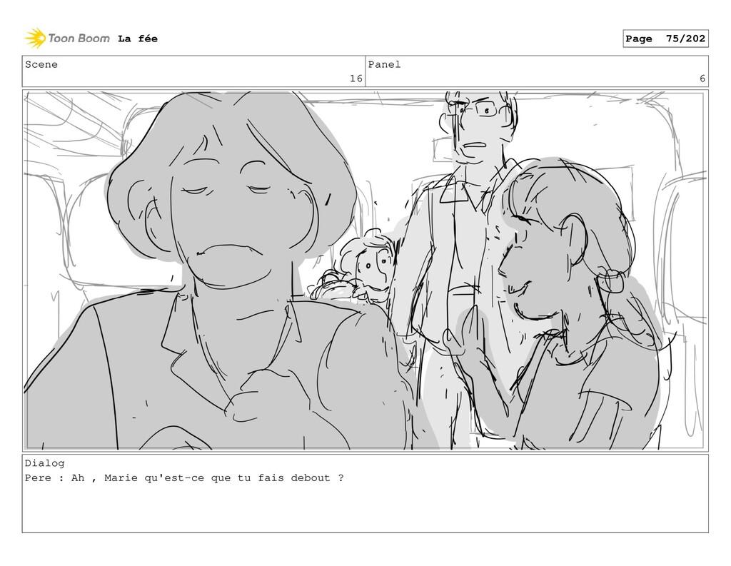 Scene 16 Panel 6 Dialog Pere : Ah , Marie qu'es...