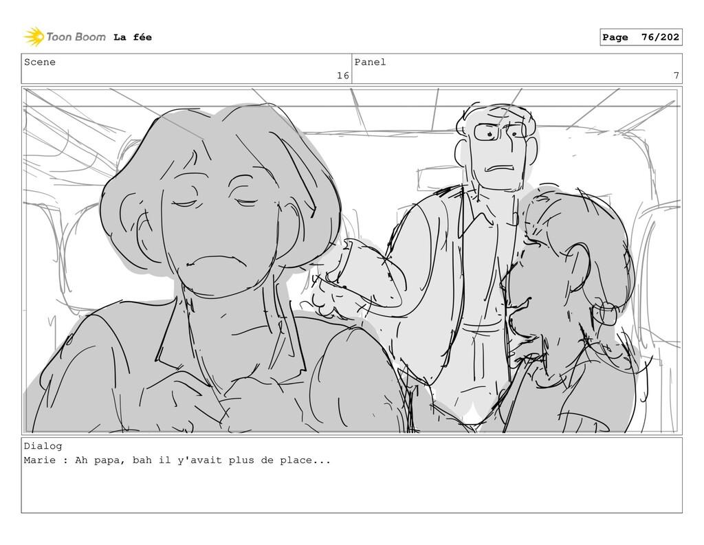 Scene 16 Panel 7 Dialog Marie : Ah papa, bah il...