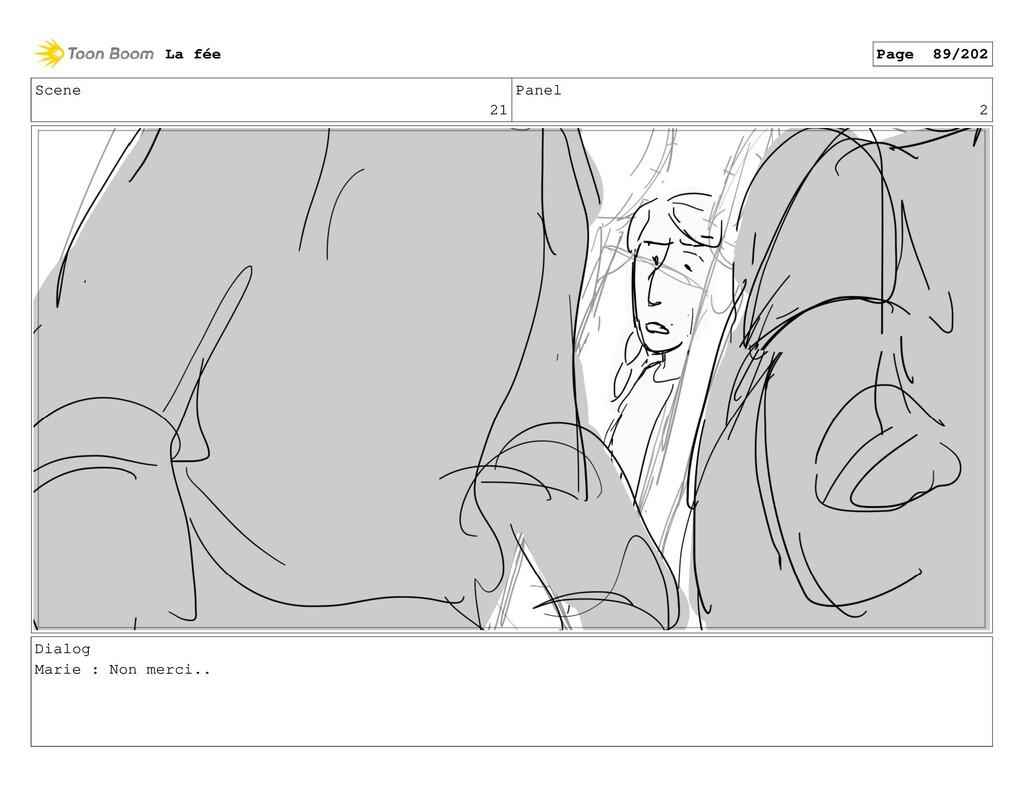 Scene 21 Panel 2 Dialog Marie : Non merci.. La ...
