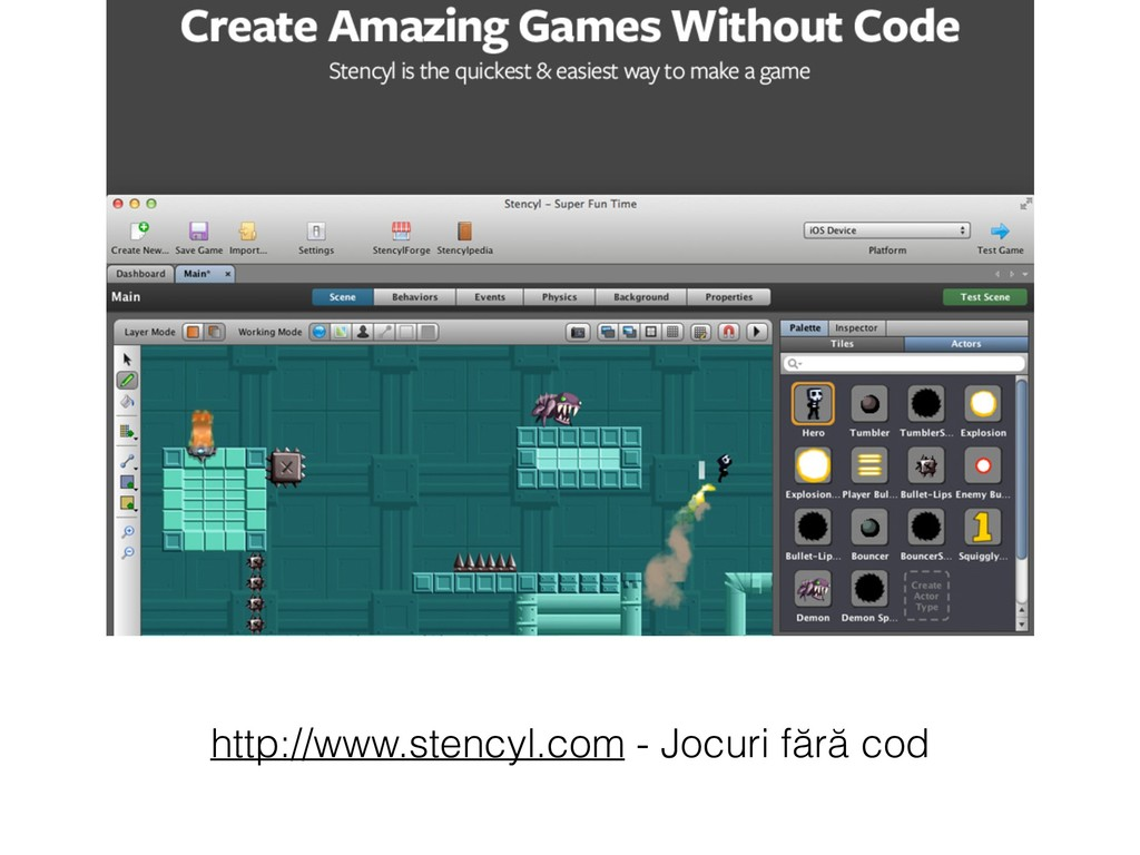 http://www.stencyl.com - Jocuri fără cod