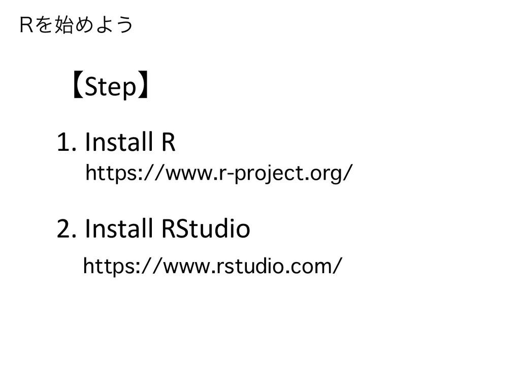 3ΛΊΑ͏ 【Step】 1. Install R 2. Install RStudio  ...