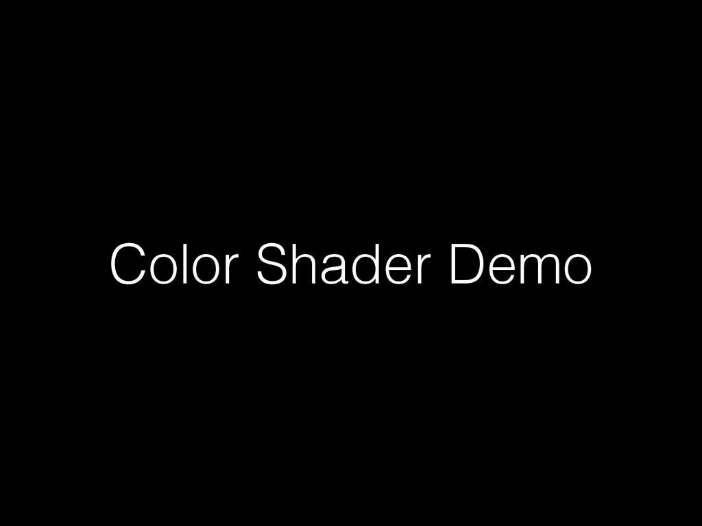 Color Shader Demo