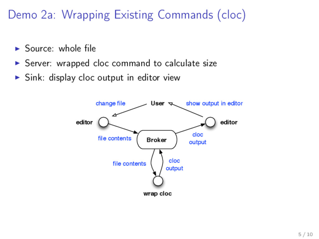 Demo 2a: Wrapping Existing Commands (cloc) Sour...