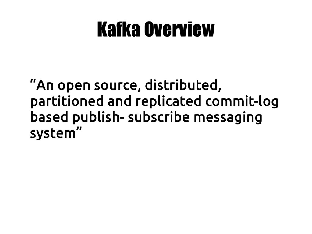 """""""An open source, distributed, partitioned and r..."""