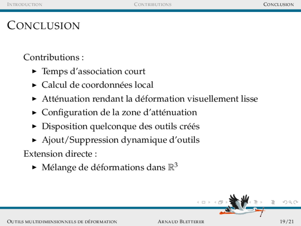 INTRODUCTION CONTRIBUTIONS CONCLUSION CONCLUSIO...