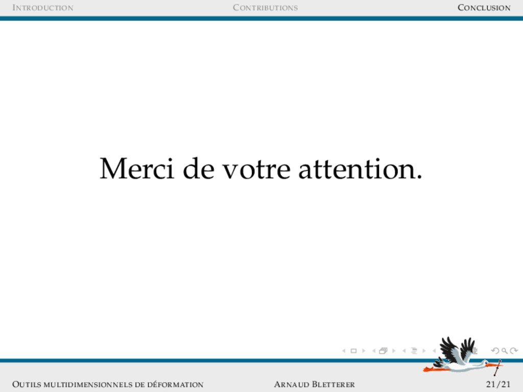 INTRODUCTION CONTRIBUTIONS CONCLUSION Merci de ...