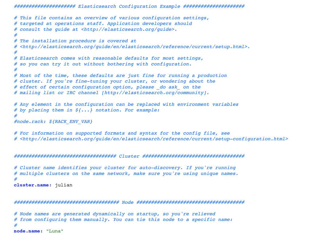 ##################### Elasticsearch Configurati...