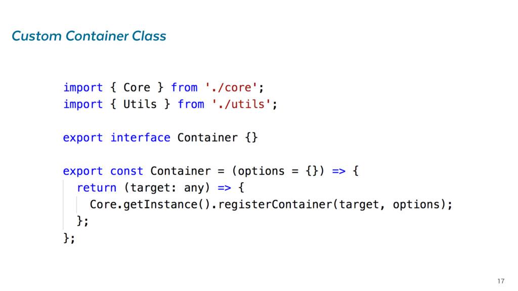 17 Custom Container Class