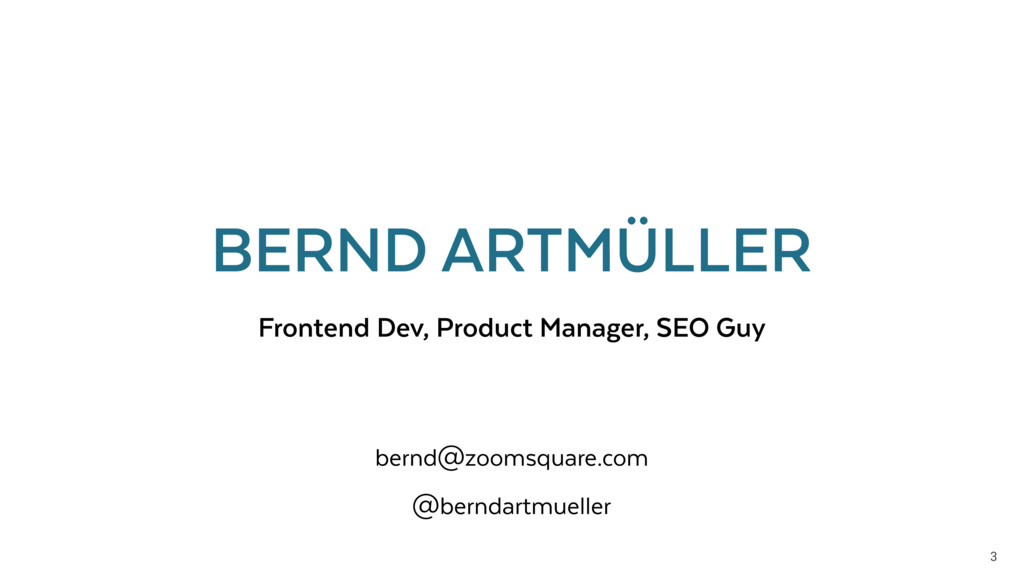 3 Frontend Dev, Product Manager, SEO Guy BERND ...
